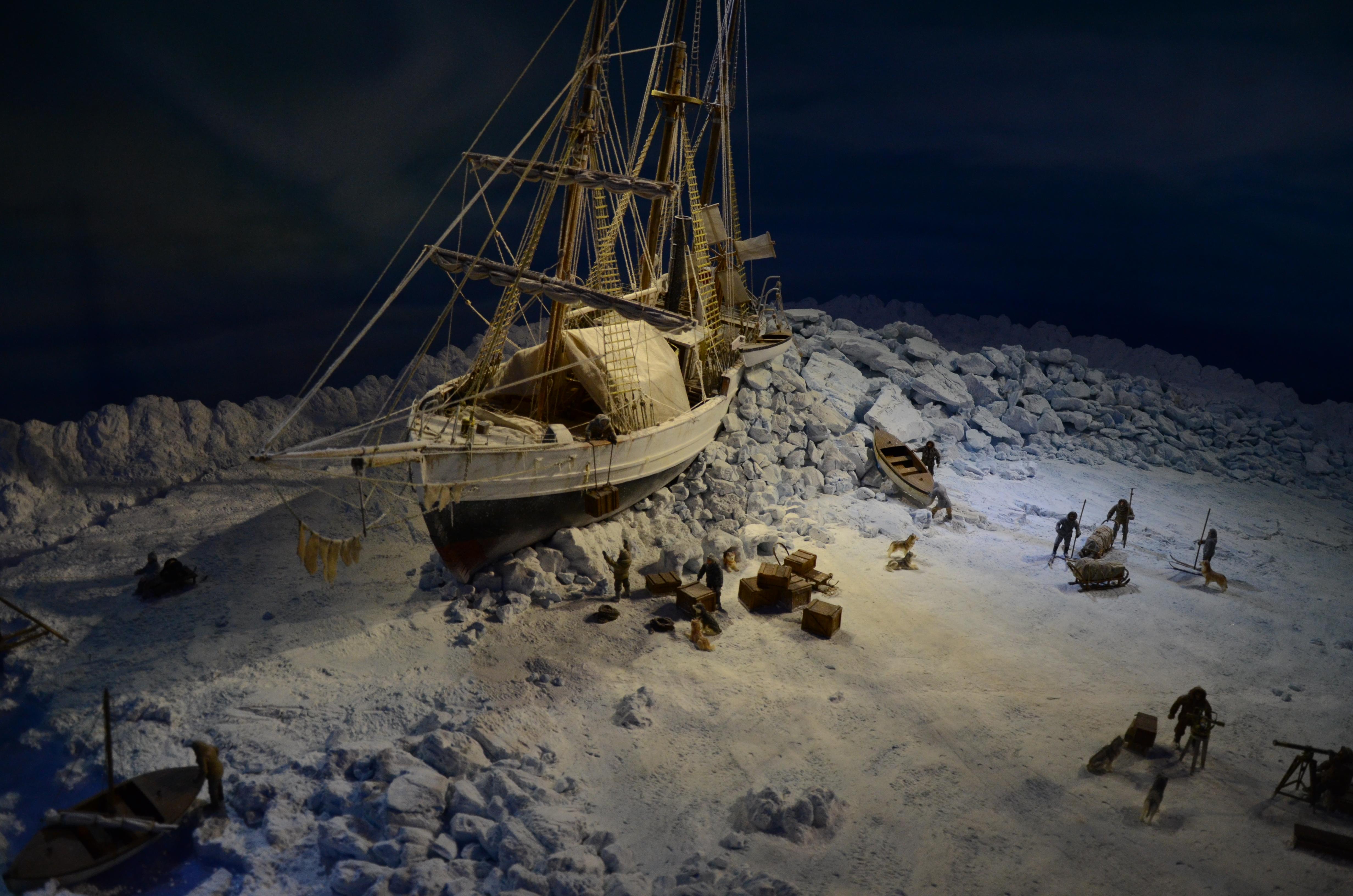 Maquette du Fram prix dans la glace